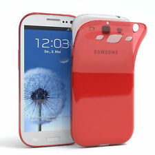 Ultra Slim Cover für Galaxy S3 / Neo Case Silikon Hülle Transparent Rot