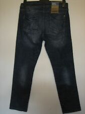 14TT) NEW) MENS DENIM 1982 DISTRESSED STRAIGHT LEG BLUE JEANS WAIST 32 LEG 30