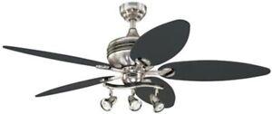 "Westinghouse 7223100- Xavier II 52"" Reversible Five-Blade Indoor Ceiling Fan"