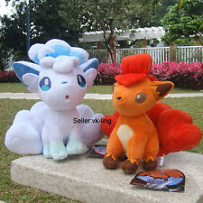 2Pcs Pokemon Center Fire And Ice Alola Vulpix Sun Moon Plush Toy Doll Nintendo