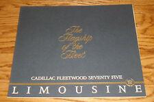 Original 1986 Cadillac Fleetwood Seventy Five Limousine Sales Brochure 86