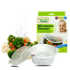 Légumes frais repas micro-ondes Cuiseur vapeur bébé BPA Free Food Phthalate Safe 6M+