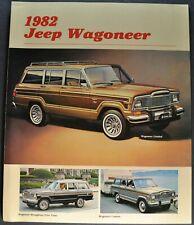 1982 Jeep Wagoneer Brochure Folder 4x4 Limited Brougham Excellent Original 82