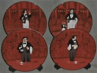 Set (4) Williams Sonoma GUY BUFFET - LES GARCONS PATTERN Salad Plates JAPAN