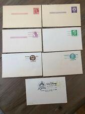 USA -  7 pre-paid cards inc. 2c Franklin + 1 with Walt Disney postmark