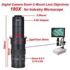 180X Digital Camera Zoom C-Mount Lens Objectives F Industry Microscope