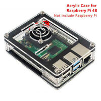 9 Layer Acrylic Case with Cooling Fan Heatsinks for Raspberry Pi 4 Model B new