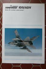 1980'S DEPLIANT PUBLICITAIRE PANAVIA TORNADO IDS ADV COMBAT AIRCRAFT