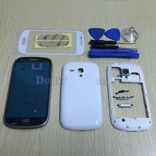 Full Housing Case Cover + Screen Glass For SAMSUNG Galaxy S3 mini I8190 White