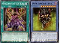 Yugioh Dark Master - Zorc + Contract with the Dark Master - Set Lot