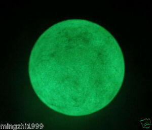 70MM Natural White fluorite Crystal Sphere Glow In The Dark Stone