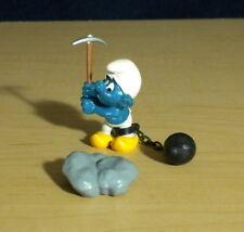 Smurfs Chain Gang Prisoner Axe Super Smurf Vintage Toy Figure Schleich PVC 40213
