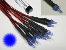 S879 - 10-pc CLIGNOTANT Tower LEDS 2mm bleu diffus avec câble pour 12-19V Flash