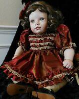 "Seymour Mann Christmas Porcelain Doll ""EMILY"" by Virginia Turner"