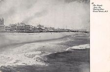 OCEAN GROVE NEW JERSEY THE BEACH FROM FISHING PIER POSTCARD 1909 PM LOWVILLE NY