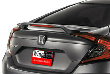 Fits: Honda Civic 4-DR 2016+ Factory Style Post Mount Rear Spoiler Primer W/LED
