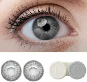 Fancy zero power Eye lens for Parties & occasionally Light Grey Colour .