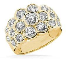 Band 14k Yellow Gold, 3.15 tcw Round cut Diamond Fancy Wedding Ring Anniversary
