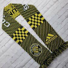 Vintage COLUMBUS CREW Adidas SCARF Black Yellow MLS Soccer