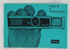 Original Rollei 16 Instruction Manual - 20 pages - printed July 1964