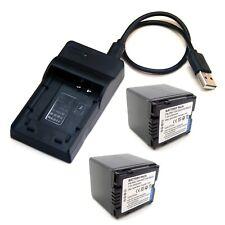Battery / USB Charger For PANASONIC NV-GS230 NV-GS250 NV-GS258 NV-GS280 NV-GS300
