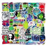 "Alien Head NEON GREEN ET UFO vinyl decal sticker car more colors 3.25/"" x 2.5/"""