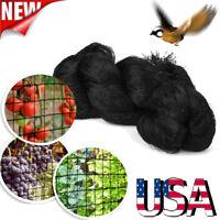 "50x100FT Anti Bird Netting Garden Poultry Aviary Game Net Nylon 2"" Mesh Screen"