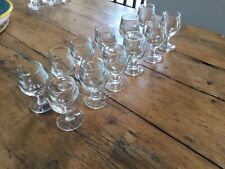 12 Anciens Verres Épais Bistrot Calvados