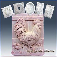Beautiful Hen - silicone Soap/sugar/fondant/chocolate/Marzipan 2D mold