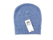 Men's COUNTRY CLUB 100% Stone Blue Cashmere Knit Beanie Hat Cap 50 M S $195