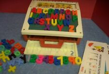 Vitg 1972 Fisher Price Toys School Days Desk Plastic Magnetic Letters & Numbers