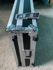 Road Ready 88 Key Board Case With Adjustable Z-Lock Foam And Low Profile Wheels