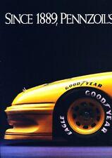 1991 Pontiac Grand Prix 4-page NASCAR Race Advertisement Print Art Car Ad J984