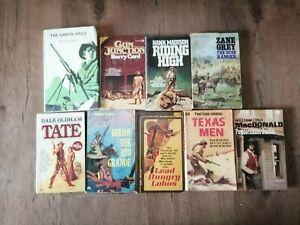 9  JOB LOT Vintage Cowboy Western Books