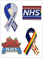 Set 4 x 2021 Thank You NHS Staff Nurse Doctor Rainbow Brooch Enamel Pin Badge