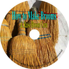 How To Make Brooms - Harvesting Corn Vintage Bristles Broomstick 5 Books on CD