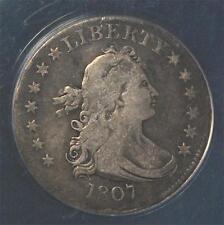 1807 Draped Bust Quarter:   ANACS VF-25, nice original coin