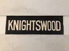 "Glasgow Partick Vintage Linen Tram Bus Blind 25""- Knightswood"