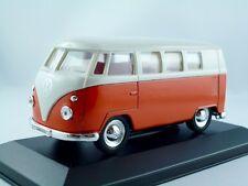VW T1 Bus  1963-1967    orange/weiss     /   Welly 1:36