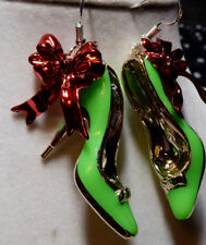 Christmas Handcrafted 925 EARRINGS HIGH HEEL SHOES STILETTO nora winn
