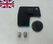 Toyota Rav4 Yaris MR2 Corolla Avensis 2 Button Key Fob Rubber Pad Repair kit NEW
