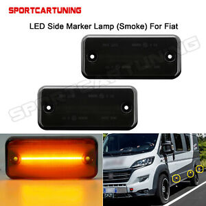 Smoked LED Side Marker Lights For Fiat Ducato 2001-2019 Citroen Relay 2006-2019