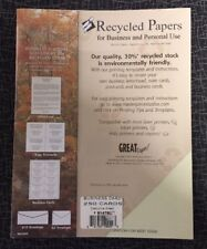 """Great Papers! Executive Green Business Cards, 3.5""""x2"""", 250 Count 914782"""