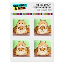 Hamster Eating Stash of Food Computer Case Modding Badge Stickers Set