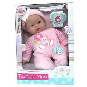 28CM tall LISSI Talking Nina Baby doll with 6 sounds