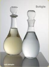 Coppia di Caraffe Elegance con tappo in vetro con scritte naturale e frizzante