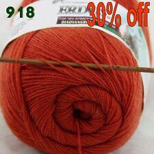 Sale 1 Skein x50gr LACE Soft Crochet Acrylic Wool Cashmere hand knitting Yarn