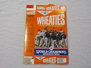 Minnesota Twins 1987 World Champions Wheaties Cereal Box (Flat) 1987