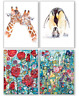 8x Eco-Friendly Recycled Greeting Cards - Various Designs - Birthdays