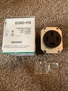 BRYANT 8360FR 60A 4W Single Receptacle 120/208VAC 18-60R BK